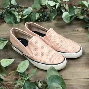 Sperry Top Sider Pink Leather Slide Shoes (Size 9)